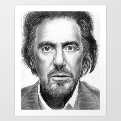 Al Pacino Art Print by Olechka - $15.00