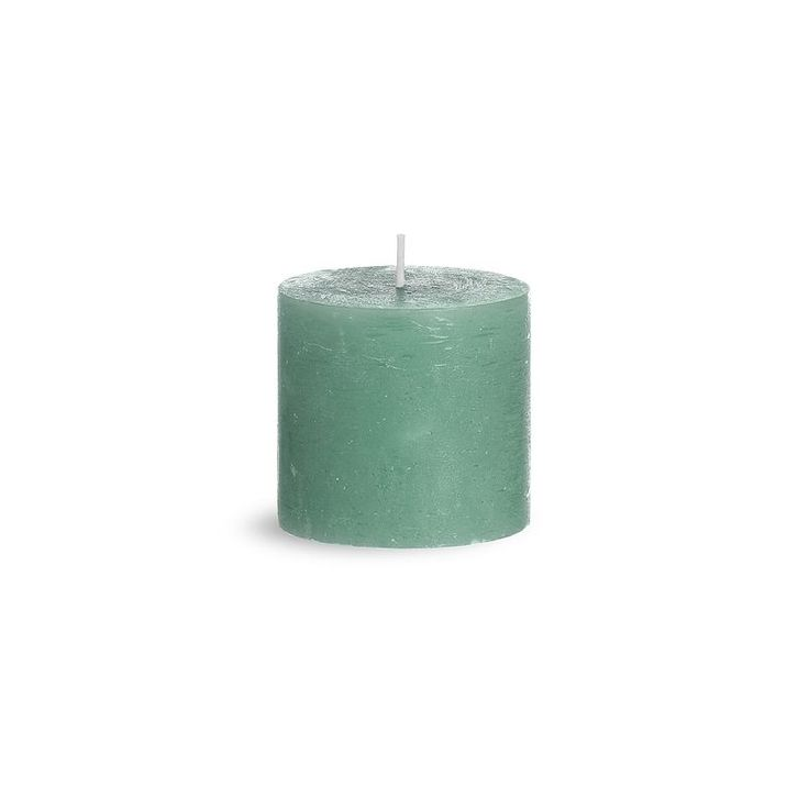 Kerze Rustic D 7 5cm X H 7cm Mintgrun Mintgrun Kerzen Und Wohnen