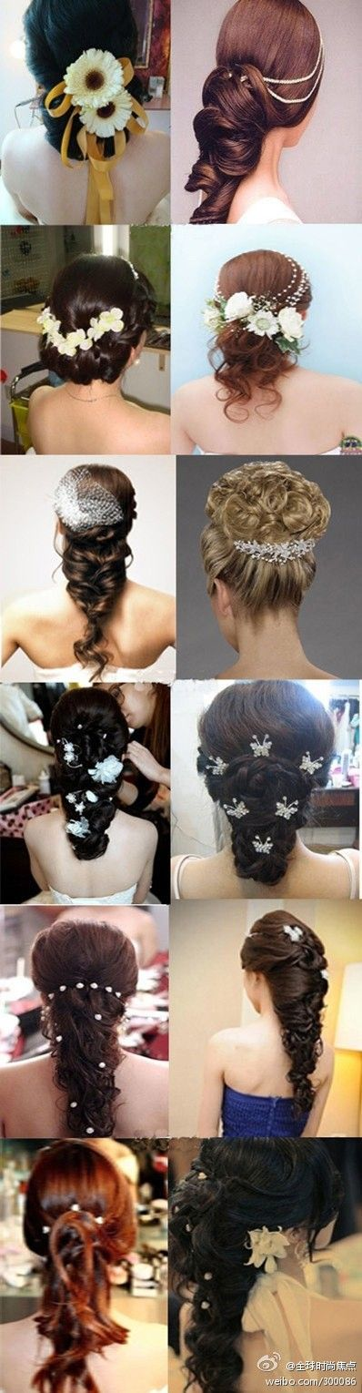 So many ideas for a wedding hairstyle