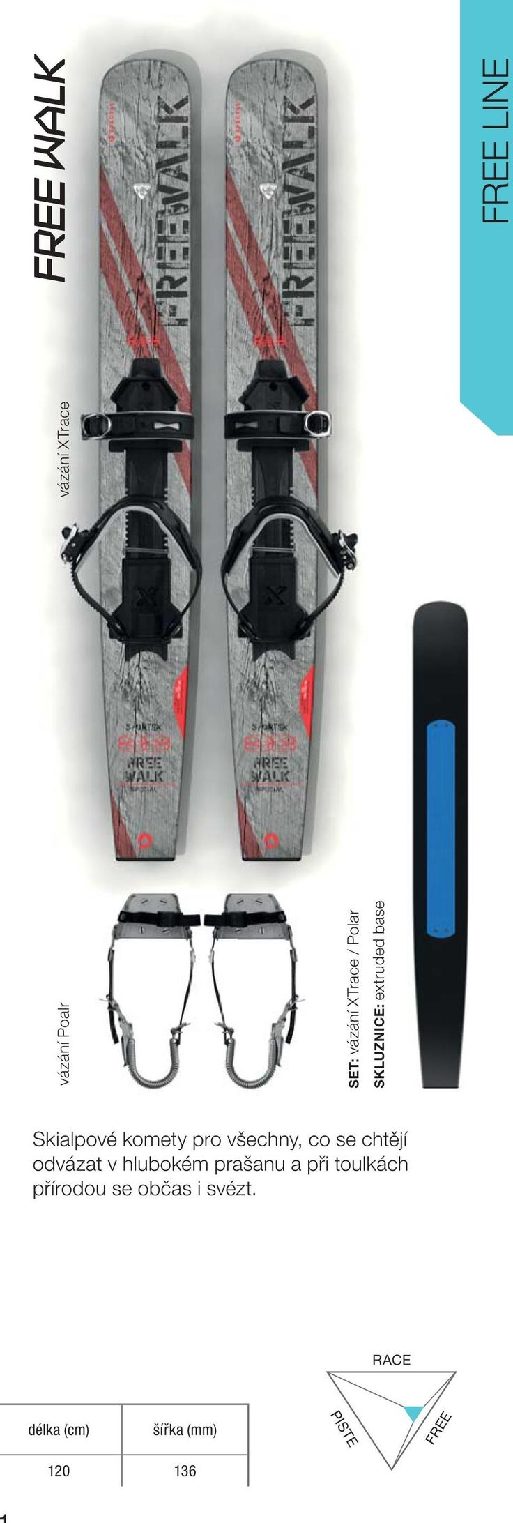 Free Walker skis - eplacement snowshoes