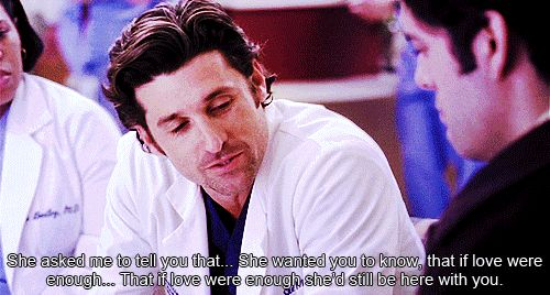 """When Derek had to deliver Bonnie's (Monica Keena) dying words to her fiancé.   21 Times You Wanted To Quit """"Grey's Anatomy"""""""