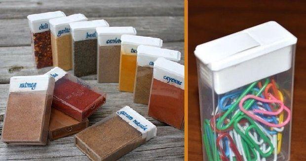 Pro krabičku od tic taců najdete v domácnosti všelijaké využití. Hodí se na koření, vlasové doplňky i kancelářské doplňky