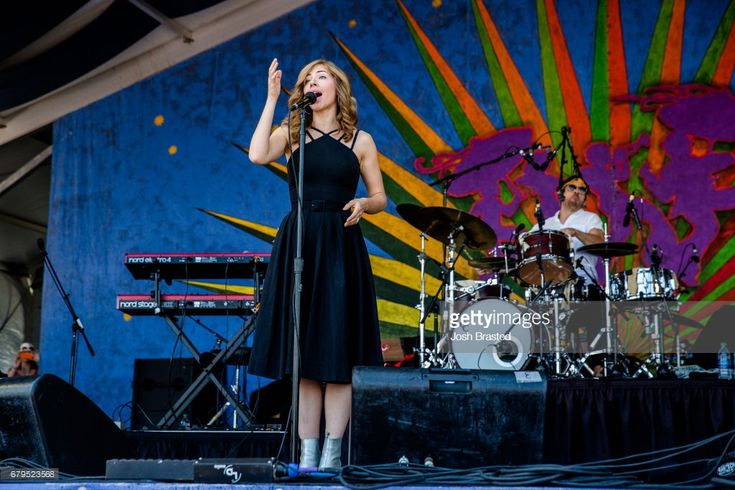 Rachael Price of Lake Street Drive performs at the New Orleans Jazz & Heritage Festival at Fair Grounds Race Course on May 5, 2017 in New Orleans, Louisiana.