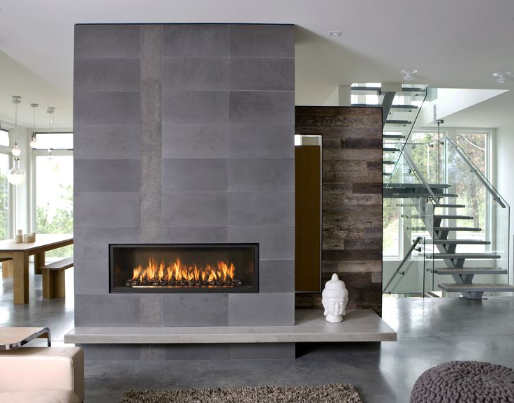 Industrial Home - Slate Gray - Reclaimed Wood - Modern Fireplace - Mantel Ideas - Living Room