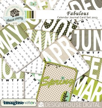 digital scrapbook calendar tags