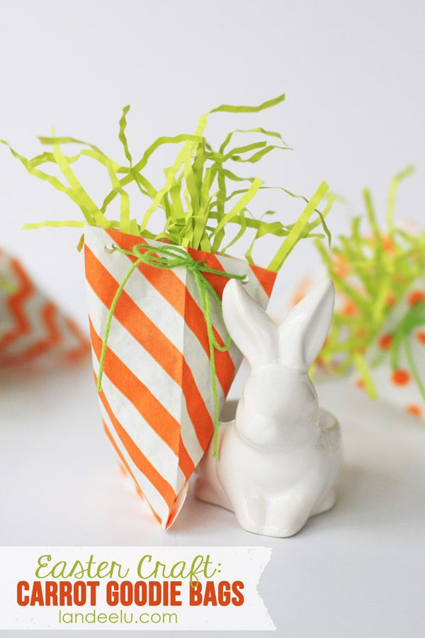 137 best easter containers images on pinterest easter bunny carrot goodie bags easy easter craft negle Image collections