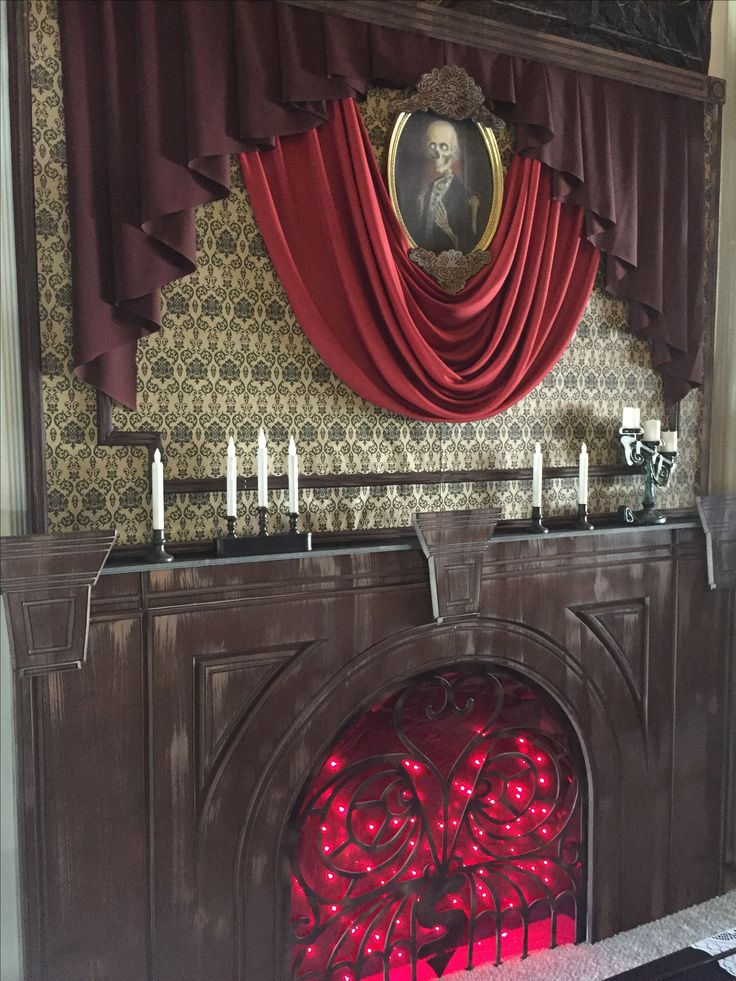 pinner said my own props halloween haunted mansion formal dining room - Gory Halloween Decorations
