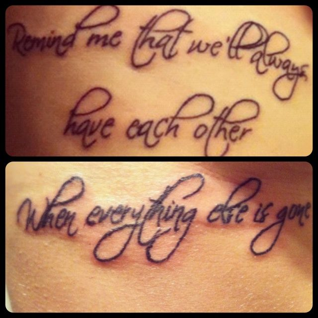 couple tattoo? It's our song..
