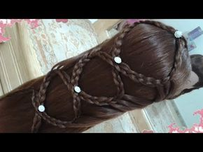 peinados recogidos con trenzas faciles para cabello largo bonitos y rapidos para niña mariposa#47 - YouTube