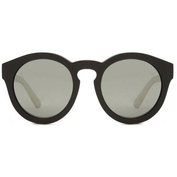 Marc Jacobs Collection Round Sunglasses (1.300 BRL) ❤ liked on Polyvore featuring accessories, eyewear, sunglasses, glasses, gradient lens sunglasses, rimmed glasses, marc jacobs sunglasses, marc jacobs and rounded sunglasses