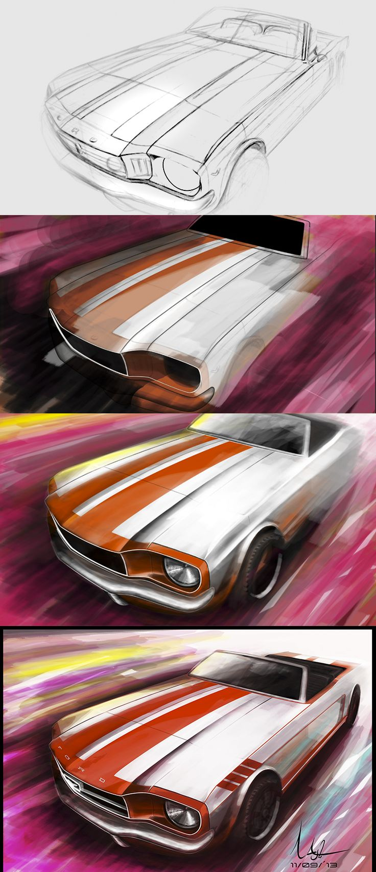tutorial car sketch