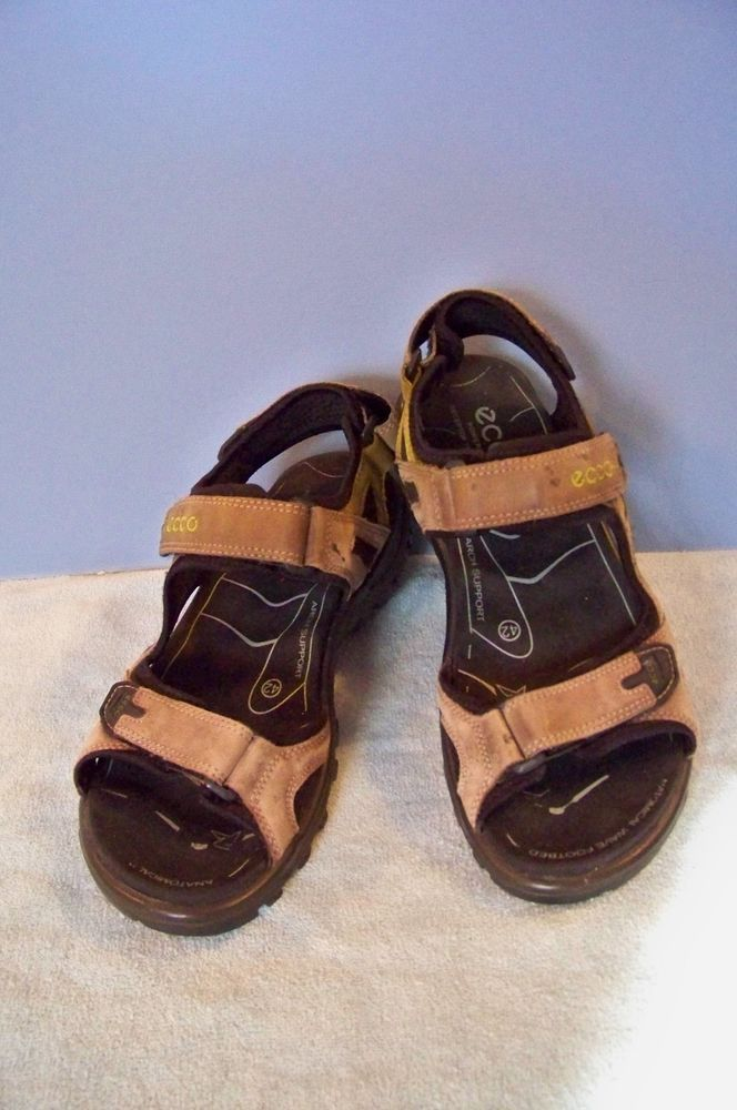 Details about Men's Ecco Receptor Leather Fisherman Sandal Size 42 8.5 9 US