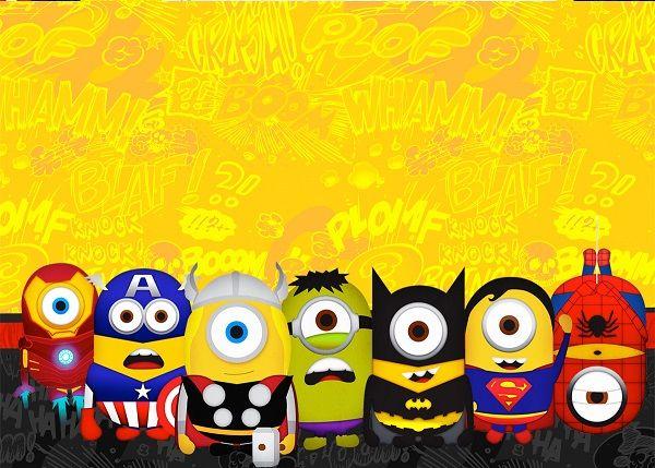 De lo más simpático y divertido que hemos visto nos han resultado estás imágenes de los Minions Super Héroes: Minion Iron Man, Minion Capitán América, Minion Thor, Minion Hulk, Minion Batman, Minio...