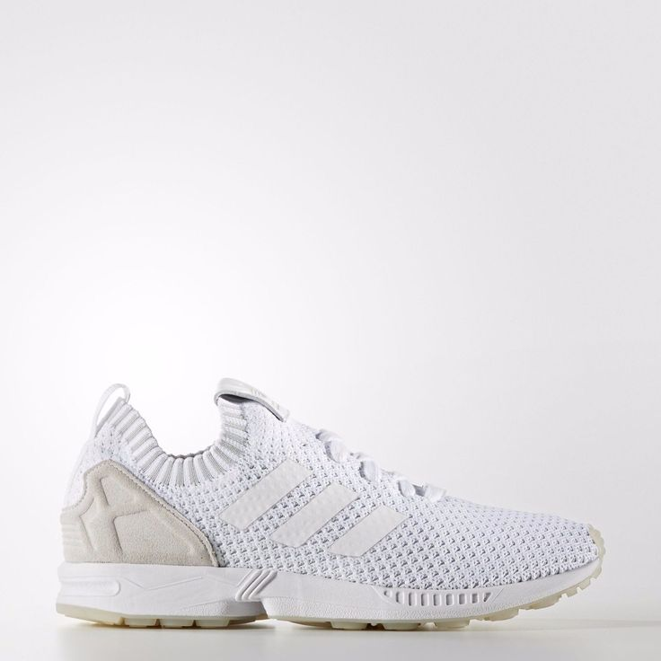 Adidas Originals Men's ZX FLUX PRIMEKNIT Shoes Running White S75977 Size:  13 US