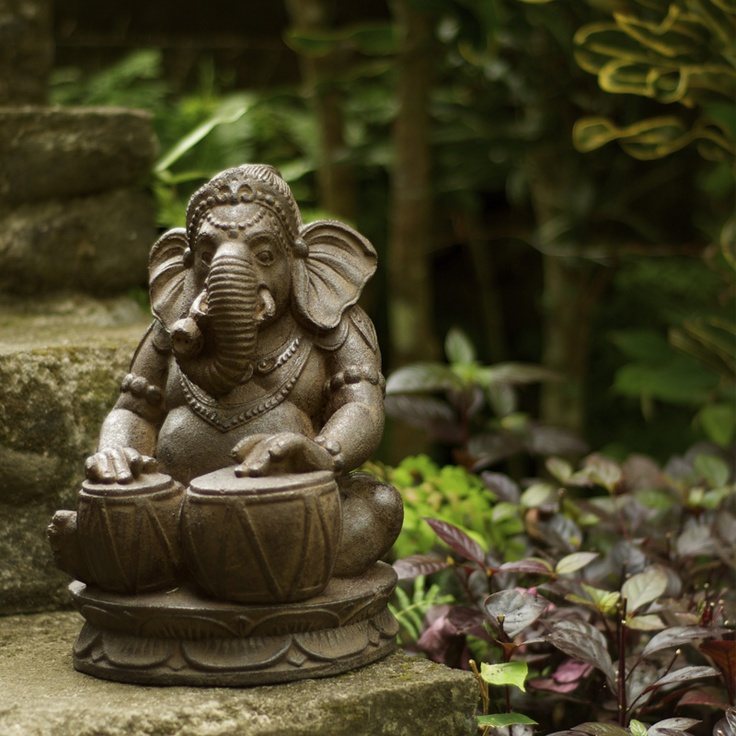 Volcanic Ash Tabla Ganesha Garden Statue Stone Washed Made From Crushed  Basalt, This Reproduction Will Look Magnificent In Your Garden Or Simply In  A ...