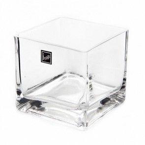 Glass Cube Vase 10x10