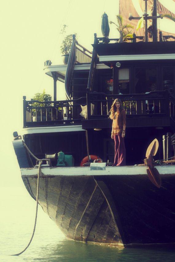 Hausboot . Nomadenleben