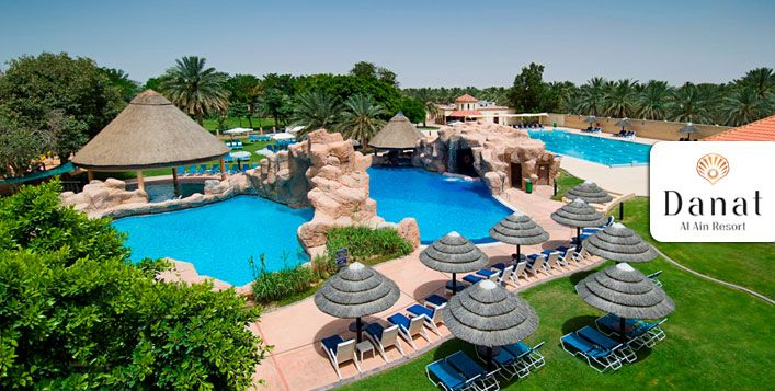 Share special moments with your family with a 1-night stay at Danat Al Ain Resort, along with access to all Recreational Facilities for USD 123 per family – Breakfast included!