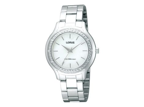 #Lorus ladies' stainless steel dress #watch set with thirty-six crystals and water resistant to 50 metres.Lorus watches, a part of the world famous #SEIKO Watch Corporation, blend style, reliability, and with affordability. | #thomasjewellers