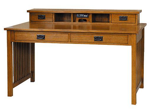 Craftsman style writing desk.
