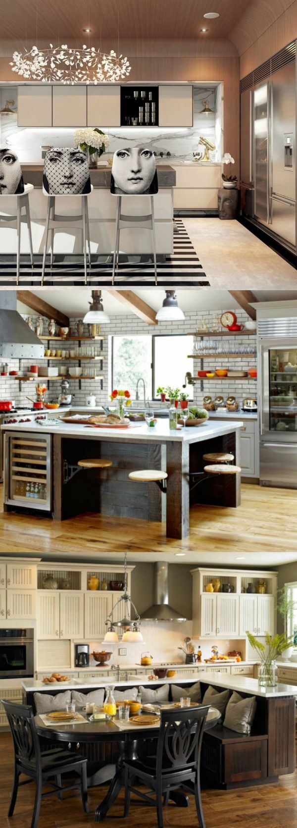 Amazing kitchen islands with seating, make your kitchen the center of the home | lovelyspaces.com