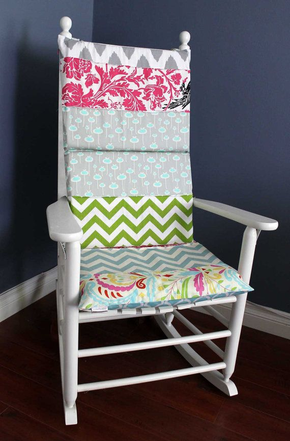 Rocking Chair Cushion   Eclectic Prints Via Etsy