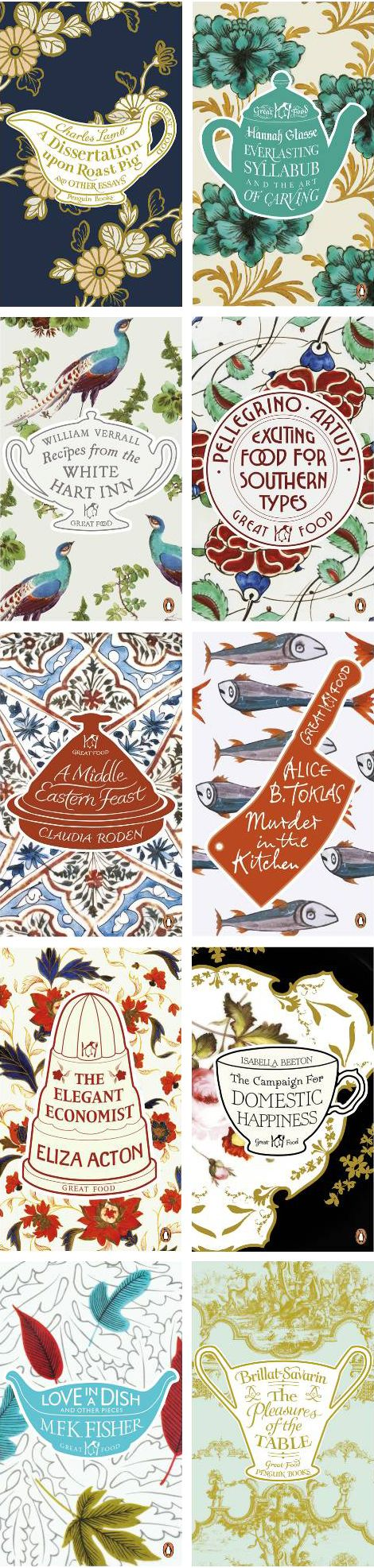 Penguin – Great Food, cover designs by Coralie Bickford-Smith http://www.apartmenttherapy.com/great-food-an-i-142985