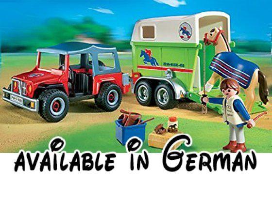 PLAYMOBIL® 4189 - Reiterhof - Geländewagen mit Pferdeanhänger. <b>Geschlecht:</b> Mädchen und Jungen #Toy #TOYS_AND_GAMES