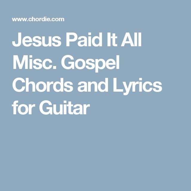 jesus all for jesus chords pdf