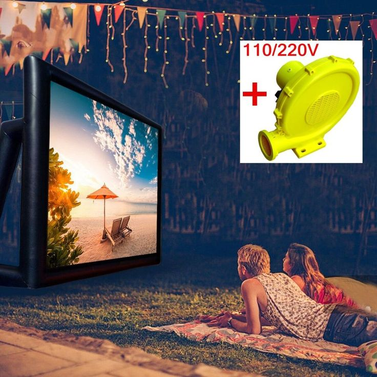 Giant Inflatable Movie Screen Projection Outdoor Party Backyard Cinema Theatre  #Efland