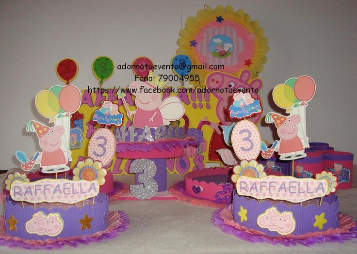 Set de cumpleaños peppa pig