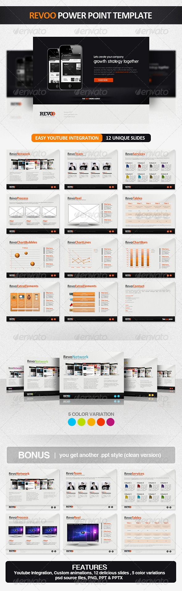 Presentation Templates - Revoo PowerPoint Presentation Template | GraphicRiver