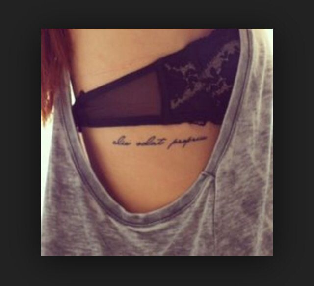 Tattoo Cursive Black Rip Birds Quote For Every: Latin Tattoo, Tattoos, Side