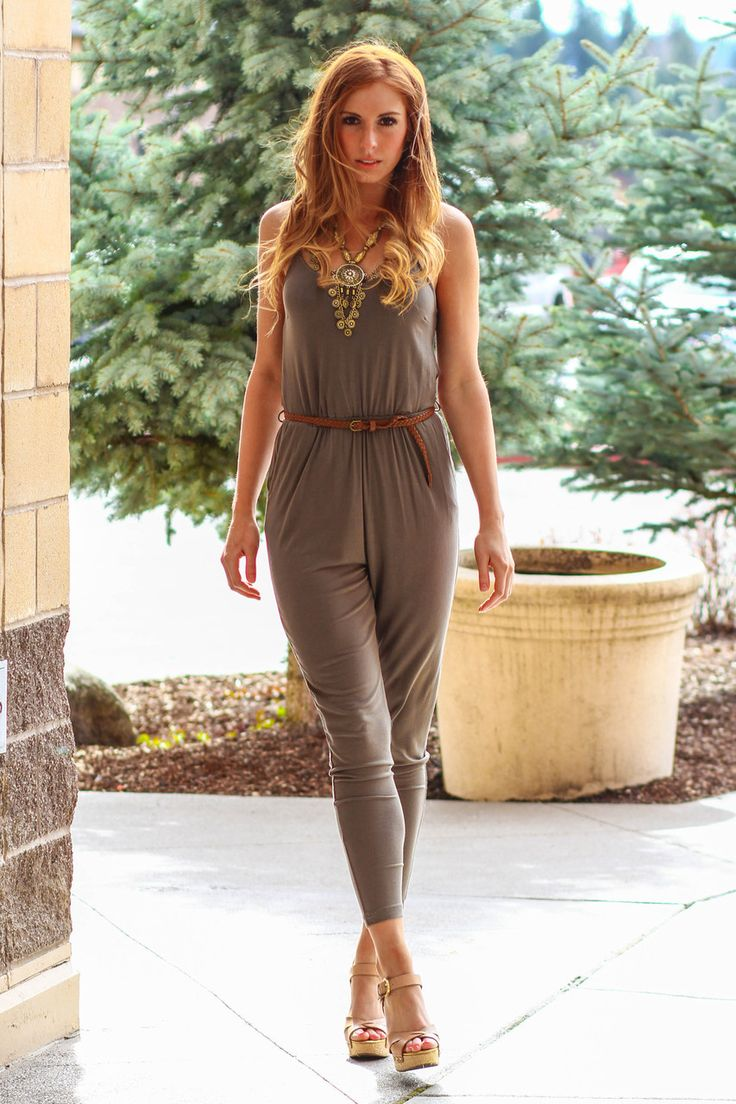 NanaMacs Boutique - Staccato Favorite Belted Jumper (Olive), $31.00 (http://www.nanamacs.com/staccato-favorite-belted-jumper-olive/)