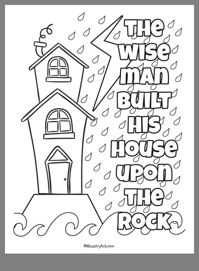 18++ Wise man foolish man coloring page download HD