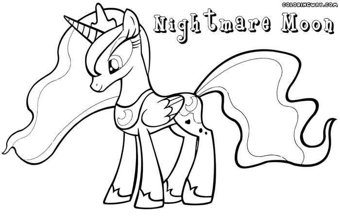 Nightmare Moon My Little Pony Coloring Page My Little Pony