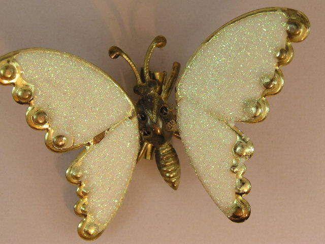 Gorgeous Vintage Glitter Enamel Trembler Butterfly Brooch in Jewellery & Watches | eBay