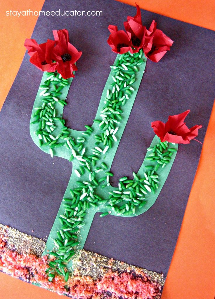 Sensory Cactus Craft - Stay At Home Educator