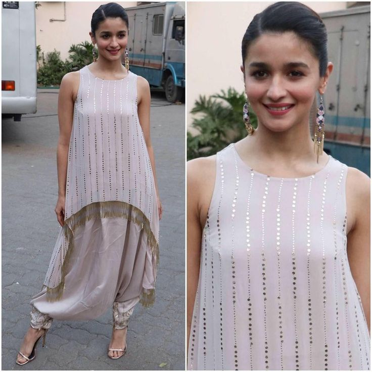 Dhoti pants and asymmetric kurta