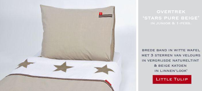Stars Pure Beige beddengoed