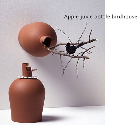 from bottle to birdhouse