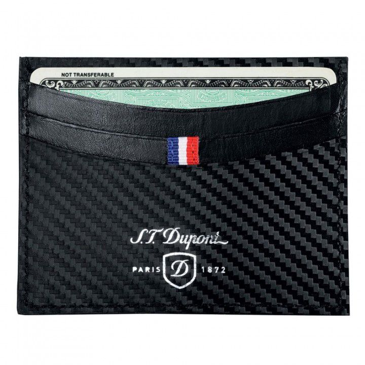 S.T. Dupont Defi Leather Credit Card Case, Carbone | Fendrihan Store