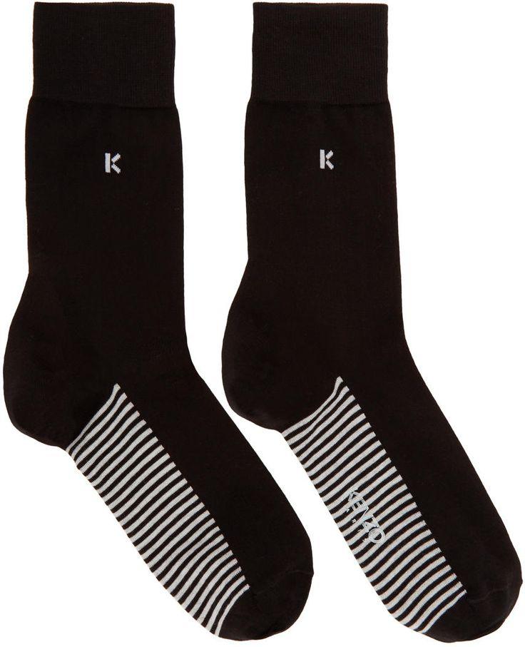 Image of Kenzo Black k Socks