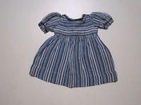 Schöne alte Puppenkleidung - Gestreiftes Kleid/ Kurzarm