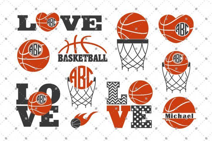 Basketball SVG Cut Files from DesignBundles.net