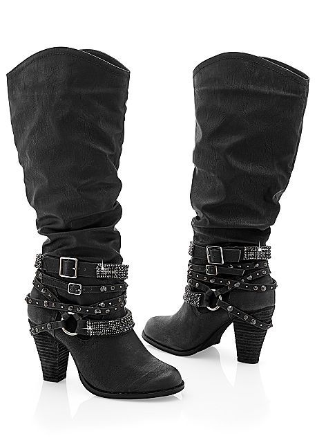 Women's Studded buckle boot