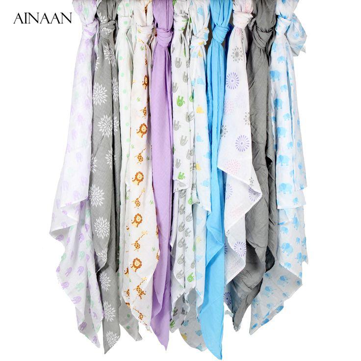 Muslin Cotton Baby Swaddles For Newborn Baby Blankets Gauze Bath Towel 135*135cm