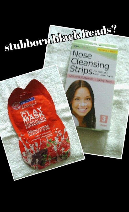 @justrose26 try using a deep pore cleansing mask before using a blackhead nose strip! You will live the results!