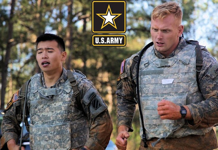 U.S. Army Rangers 1st Lt. Joseph Jeon and 1st Lt. Stephen Snyder, assigned to the 3rd Infantry Division, compete in the Body Armor Run portion of the Best Ranger Competition 2017 at Fort Benning, GA. The 34th annual David E. Grange Jr. Best Ranger Competition 2017 is a three-day event consisting of challenges to test competitor's physical, mental, and technical capabilities.