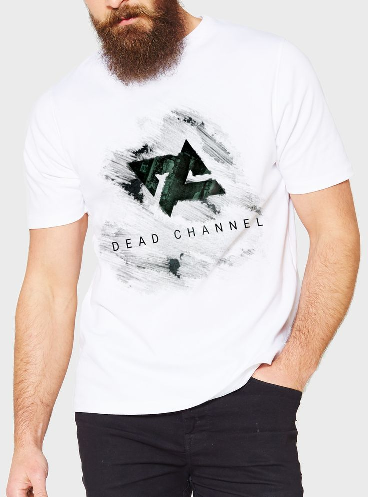 Merchandise mockup for Dead Channel (italian Nu-Metal band).  Revup Agency, music promotion: graphic design, photography, video making, marketing, social media management.